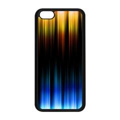 Light Orange Blue Apple Iphone 5c Seamless Case (black) by Mariart