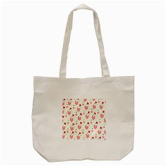 Love Heart Pink Polka Valentine Red Black Green White Tote Bag (cream) by Mariart