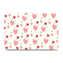 Love Heart Pink Polka Valentine Red Black Green White Plate Mats by Mariart