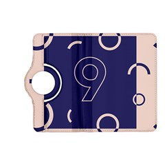 Number 9 Blue Pink Circle Polka Kindle Fire Hd (2013) Flip 360 Case by Mariart
