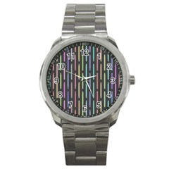 Pencil Stationery Rainbow Vertical Color Sport Metal Watch by Mariart