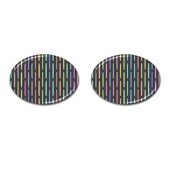 Pencil Stationery Rainbow Vertical Color Cufflinks (oval) by Mariart