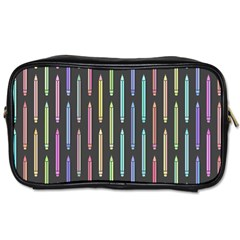 Pencil Stationery Rainbow Vertical Color Toiletries Bags 2 Side by Mariart