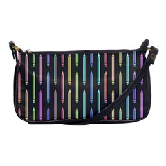 Pencil Stationery Rainbow Vertical Color Shoulder Clutch Bags by Mariart