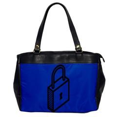 Padlock Love Blue Key Office Handbags by Mariart