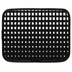 Plaid White Black Netbook Case (xxl)  by Mariart