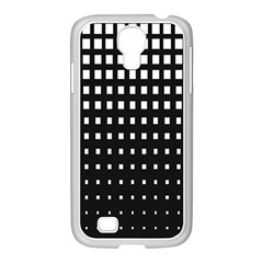 Plaid White Black Samsung Galaxy S4 I9500/ I9505 Case (white) by Mariart