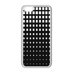 Plaid White Black Apple Iphone 5c Seamless Case (white) by Mariart