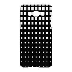 Plaid White Black Samsung Galaxy A5 Hardshell Case  by Mariart