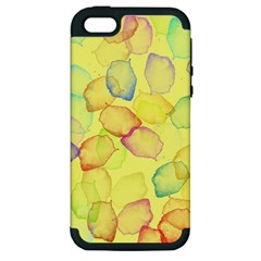 Watercolors On A Yellow Background          Apple Ipod Touch 5 Hardshell Case by LalyLauraFLM