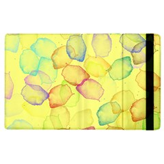 Watercolors On A Yellow Background          Kindle Fire (1st Gen) Flip Case by LalyLauraFLM