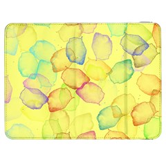 Watercolors On A Yellow Background          Htc One M7 Hardshell Case by LalyLauraFLM