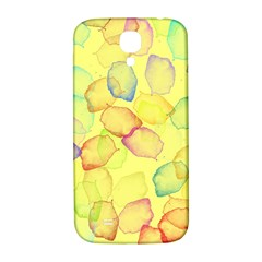 Watercolors on a yellow background          Samsung Note 2 N7100 Hardshell Back Case by LalyLauraFLM