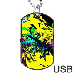 Colors Dog Tag Usb Flash (one Side) by Valentinaart