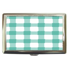 Plaid Blue Green White Line Cigarette Money Cases by Mariart