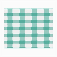 Plaid Blue Green White Line Small Glasses Cloth by Mariart