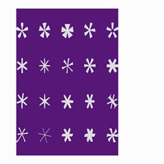 Purple Flower Floral Star White Small Garden Flag (two Sides) by Mariart