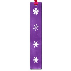 Purple Flower Floral Star White Large Book Marks by Mariart