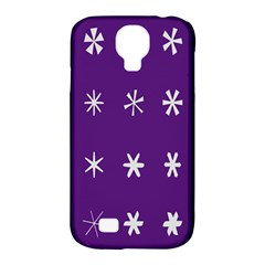Purple Flower Floral Star White Samsung Galaxy S4 Classic Hardshell Case (pc+silicone) by Mariart