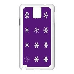 Purple Flower Floral Star White Samsung Galaxy Note 3 N9005 Case (white) by Mariart