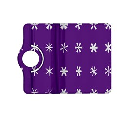 Purple Flower Floral Star White Kindle Fire Hd (2013) Flip 360 Case by Mariart