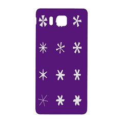 Purple Flower Floral Star White Samsung Galaxy Alpha Hardshell Back Case by Mariart