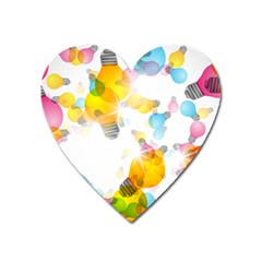 Lamp Color Rainbow Light Heart Magnet by Mariart