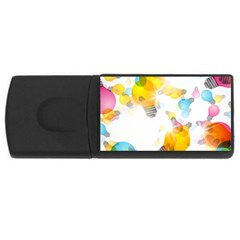 Lamp Color Rainbow Light USB Flash Drive Rectangular (2 GB) by Mariart