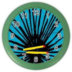 Match Cover Matches Color Wall Clocks by Mariart