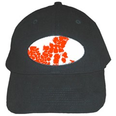 Red Spot Paint Black Cap by Mariart
