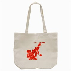 Red Spot Paint Tote Bag (cream) by Mariart