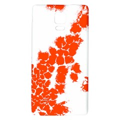 Red Spot Paint Galaxy Note 4 Back Case by Mariart