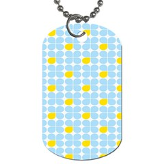 Retro Stig Lindberg Vintage Posters Yellow Blue Dog Tag (two Sides) by Mariart