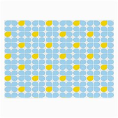 Retro Stig Lindberg Vintage Posters Yellow Blue Large Glasses Cloth (2 Side) by Mariart