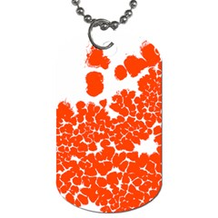 Red Spot Paint White Polka Dog Tag (two Sides) by Mariart