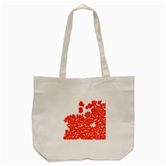 Red Spot Paint White Polka Tote Bag (cream) by Mariart