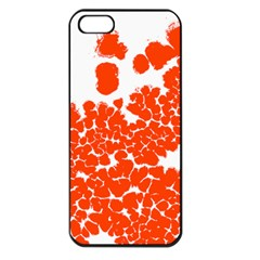 Red Spot Paint White Polka Apple Iphone 5 Seamless Case (black) by Mariart