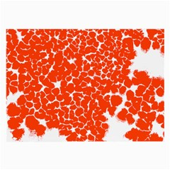 Red Spot Paint White Large Glasses Cloth by Mariart