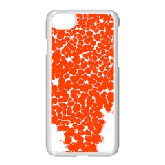 Red Spot Paint White Apple Iphone 7 Seamless Case (white) by Mariart