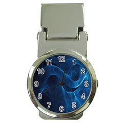 Smoke White Blue Money Clip Watches by Mariart