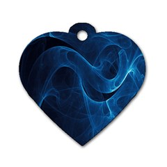 Smoke White Blue Dog Tag Heart (one Side) by Mariart