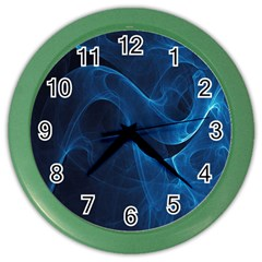 Smoke White Blue Color Wall Clocks by Mariart