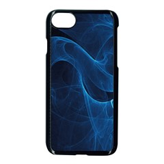 Smoke White Blue Apple Iphone 7 Seamless Case (black) by Mariart
