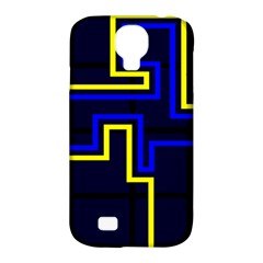 Tron Light Walls Arcade Style Line Yellow Blue Samsung Galaxy S4 Classic Hardshell Case (pc+silicone) by Mariart