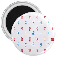 Source Serif Number 3  Magnets by Mariart
