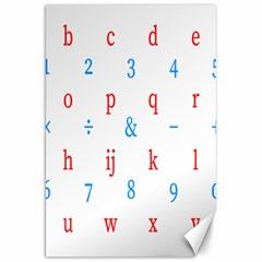 Source Serif Number Canvas 20  X 30   by Mariart