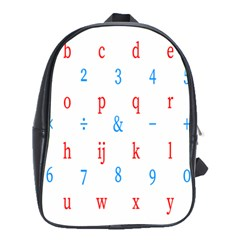 Source Serif Number School Bags (xl)  by Mariart