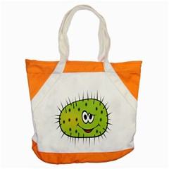 Thorn Face Mask Animals Monster Green Polka Accent Tote Bag by Mariart