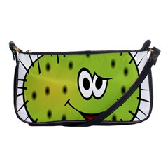 Thorn Face Mask Animals Monster Green Polka Shoulder Clutch Bags by Mariart