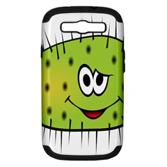 Thorn Face Mask Animals Monster Green Polka Samsung Galaxy S Iii Hardshell Case (pc+silicone) by Mariart